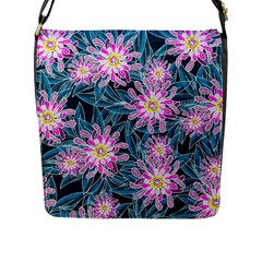 Whimsical Garden Flap Messenger Bag (l)