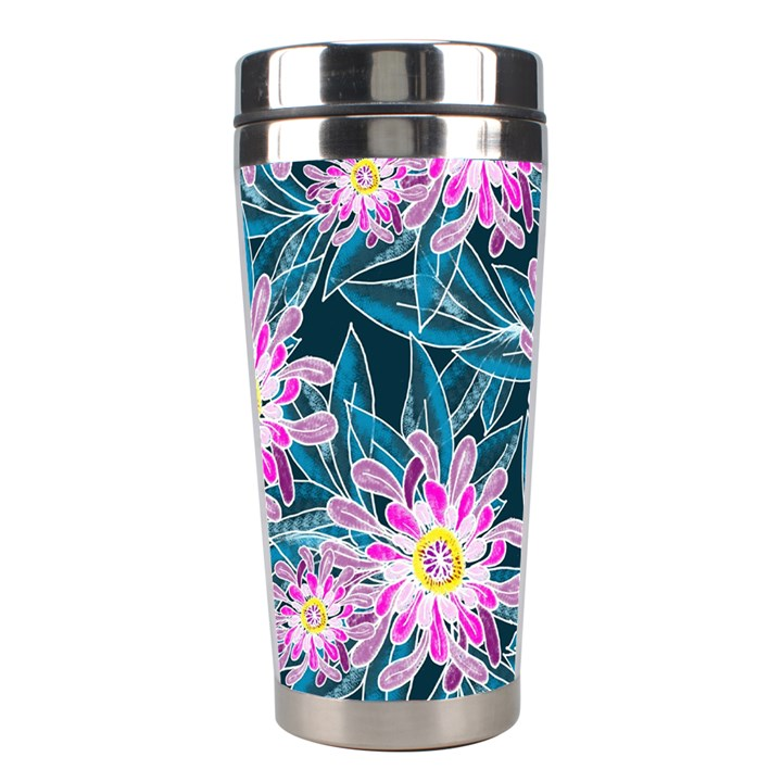 Whimsical Garden Stainless Steel Travel Tumblers