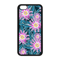 Whimsical Garden Apple Iphone 5c Seamless Case (black) by DanaeStudio