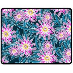 Whimsical Garden Double Sided Fleece Blanket (Medium)