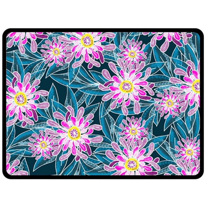 Whimsical Garden Double Sided Fleece Blanket (Large)