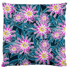 Whimsical Garden Large Flano Cushion Case (Two Sides)