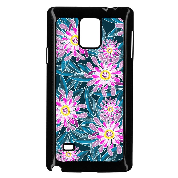 Whimsical Garden Samsung Galaxy Note 4 Case (Black)