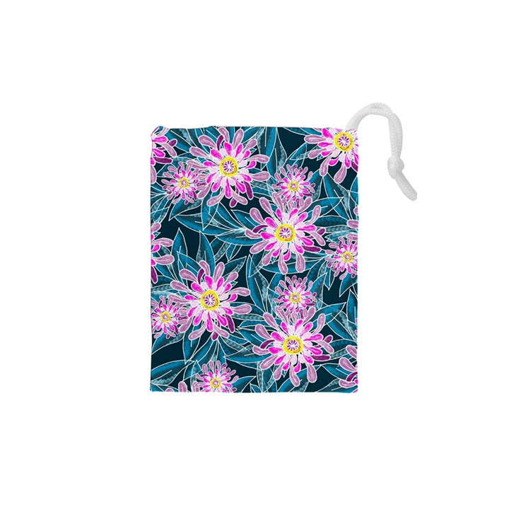 Whimsical Garden Drawstring Pouches (XS)