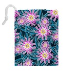 Whimsical Garden Drawstring Pouches (Extra Large) Back
