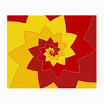 Flower Blossom Spiral Design  Red Yellow Small Glasses Cloth