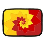 Flower Blossom Spiral Design  Red Yellow Netbook Case (Medium)