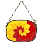 Flower Blossom Spiral Design  Red Yellow Chain Purses (Two Sides)  Back