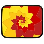 Flower Blossom Spiral Design  Red Yellow Netbook Case (XL)