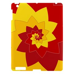 Flower Blossom Spiral Design  Red Yellow Apple Ipad 3/4 Hardshell Case by designworld65
