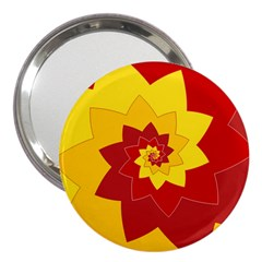 Flower Blossom Spiral Design  Red Yellow 3  Handbag Mirrors by designworld65