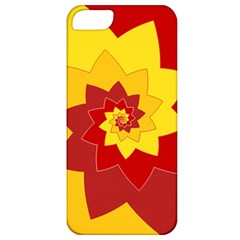 Flower Blossom Spiral Design  Red Yellow Apple Iphone 5 Classic Hardshell Case by designworld65