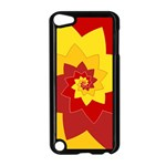 Flower Blossom Spiral Design  Red Yellow Apple iPod Touch 5 Case (Black) Front