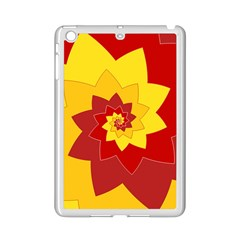Flower Blossom Spiral Design  Red Yellow Ipad Mini 2 Enamel Coated Cases by designworld65