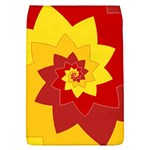 Flower Blossom Spiral Design  Red Yellow Flap Covers (L)  Front