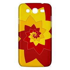 Flower Blossom Spiral Design  Red Yellow Samsung Galaxy Mega 5 8 I9152 Hardshell Case