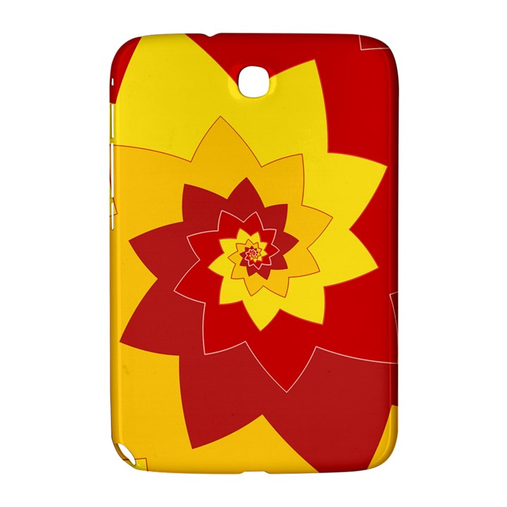Flower Blossom Spiral Design  Red Yellow Samsung Galaxy Note 8.0 N5100 Hardshell Case