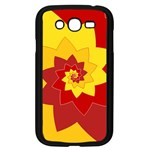 Flower Blossom Spiral Design  Red Yellow Samsung Galaxy Grand DUOS I9082 Case (Black) Front