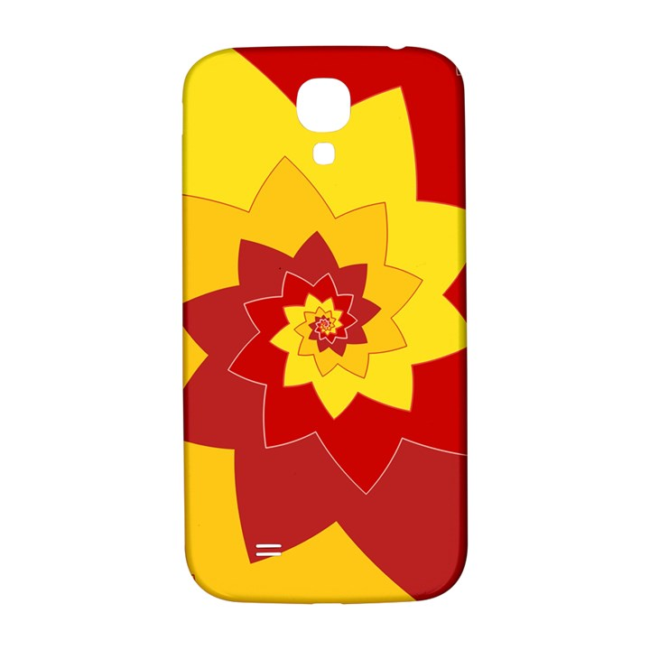 Flower Blossom Spiral Design  Red Yellow Samsung Galaxy S4 I9500/I9505  Hardshell Back Case