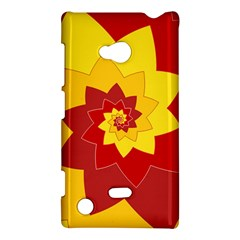 Flower Blossom Spiral Design  Red Yellow Nokia Lumia 720 by designworld65