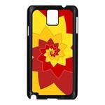 Flower Blossom Spiral Design  Red Yellow Samsung Galaxy Note 3 N9005 Case (Black) Front