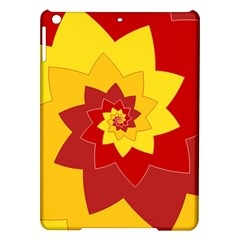 Flower Blossom Spiral Design  Red Yellow Ipad Air Hardshell Cases