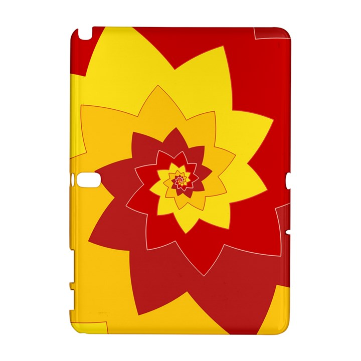 Flower Blossom Spiral Design  Red Yellow Samsung Galaxy Note 10.1 (P600) Hardshell Case