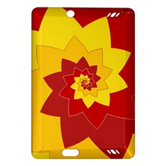 Flower Blossom Spiral Design  Red Yellow Amazon Kindle Fire Hd (2013) Hardshell Case by designworld65
