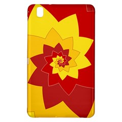 Flower Blossom Spiral Design  Red Yellow Samsung Galaxy Tab Pro 8 4 Hardshell Case
