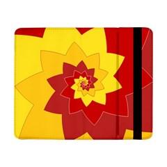 Flower Blossom Spiral Design  Red Yellow Samsung Galaxy Tab Pro 8 4  Flip Case by designworld65