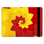 Flower Blossom Spiral Design  Red Yellow Samsung Galaxy Tab Pro 12.2  Flip Case Front