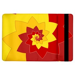 Flower Blossom Spiral Design  Red Yellow Ipad Air Flip