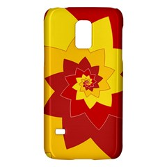 Flower Blossom Spiral Design  Red Yellow Galaxy S5 Mini by designworld65