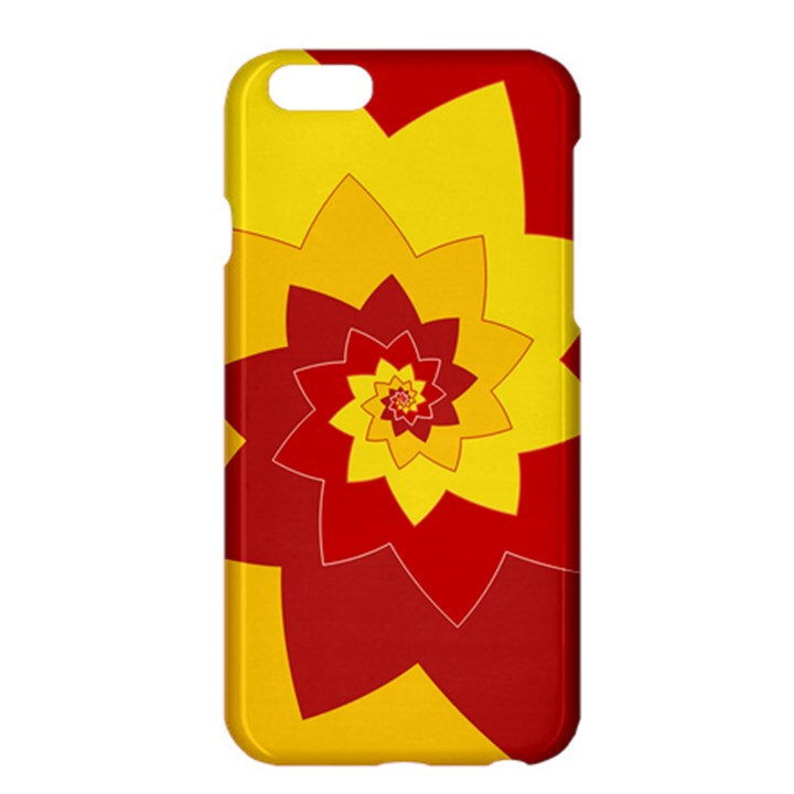 Flower Blossom Spiral Design  Red Yellow Apple iPhone 6 Plus/6S Plus Hardshell Case