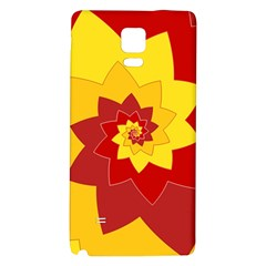 Flower Blossom Spiral Design  Red Yellow Galaxy Note 4 Back Case by designworld65