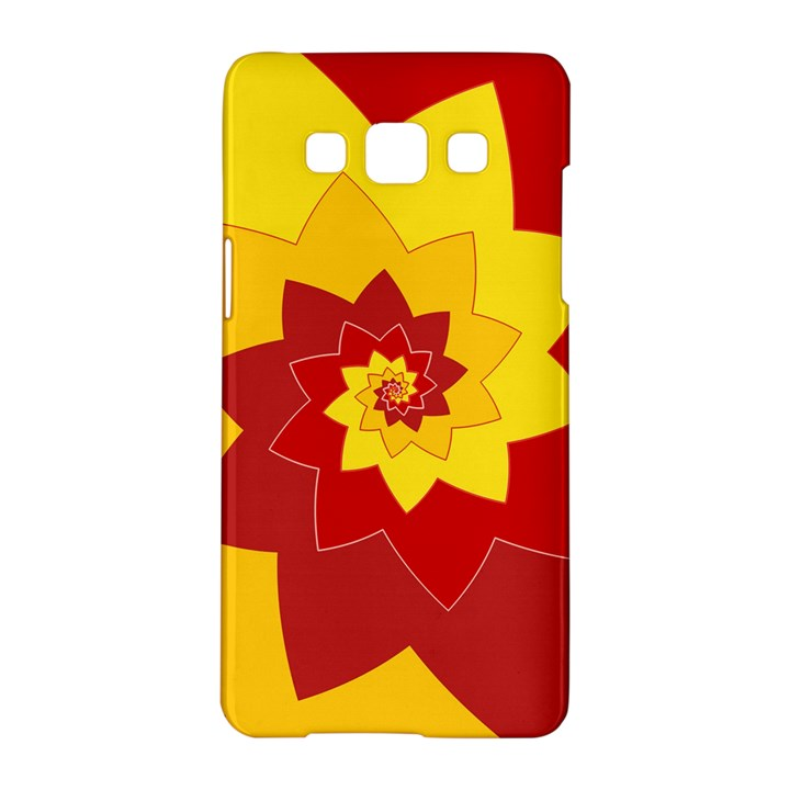 Flower Blossom Spiral Design  Red Yellow Samsung Galaxy A5 Hardshell Case