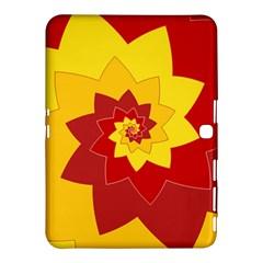 Flower Blossom Spiral Design  Red Yellow Samsung Galaxy Tab 4 (10 1 ) Hardshell Case  by designworld65