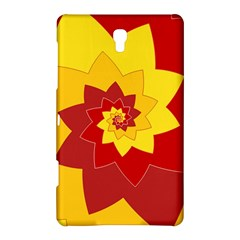 Flower Blossom Spiral Design  Red Yellow Samsung Galaxy Tab S (8 4 ) Hardshell Case  by designworld65