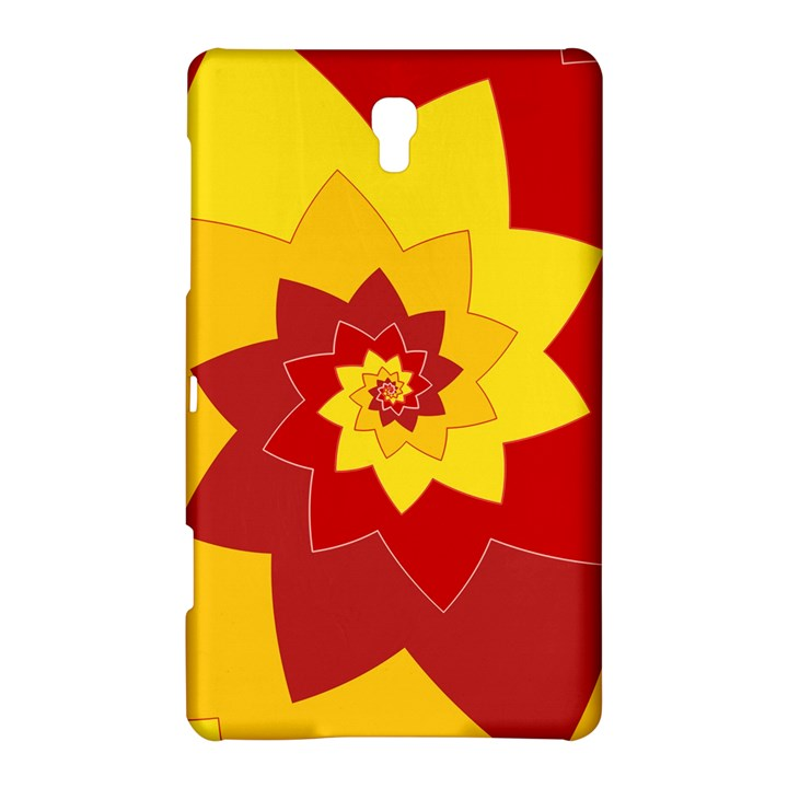 Flower Blossom Spiral Design  Red Yellow Samsung Galaxy Tab S (8.4 ) Hardshell Case