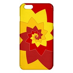 Flower Blossom Spiral Design  Red Yellow Iphone 6 Plus/6s Plus Tpu Case