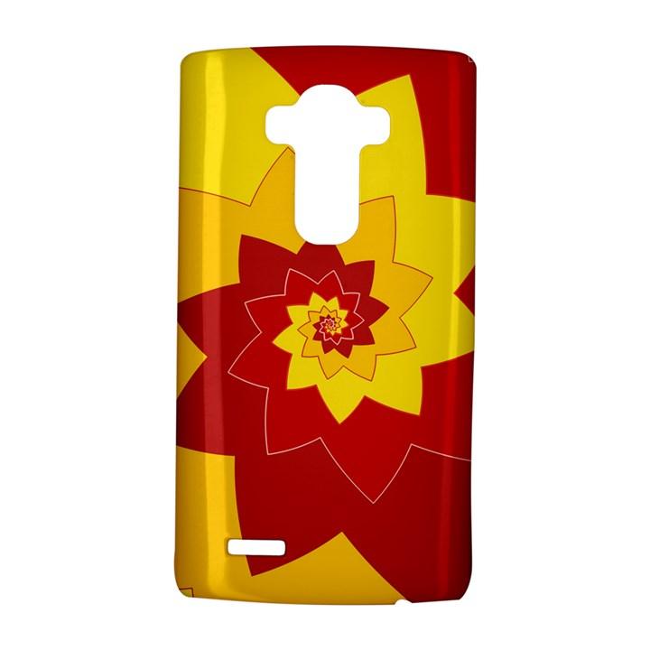 Flower Blossom Spiral Design  Red Yellow LG G4 Hardshell Case