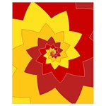 Flower Blossom Spiral Design  Red Yellow Drawstring Bag (Small) Front
