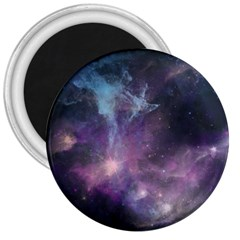 Blue Galaxy  3  Magnets by DanaeStudio