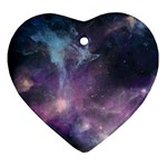Blue Galaxy  Ornament (Heart)  Front