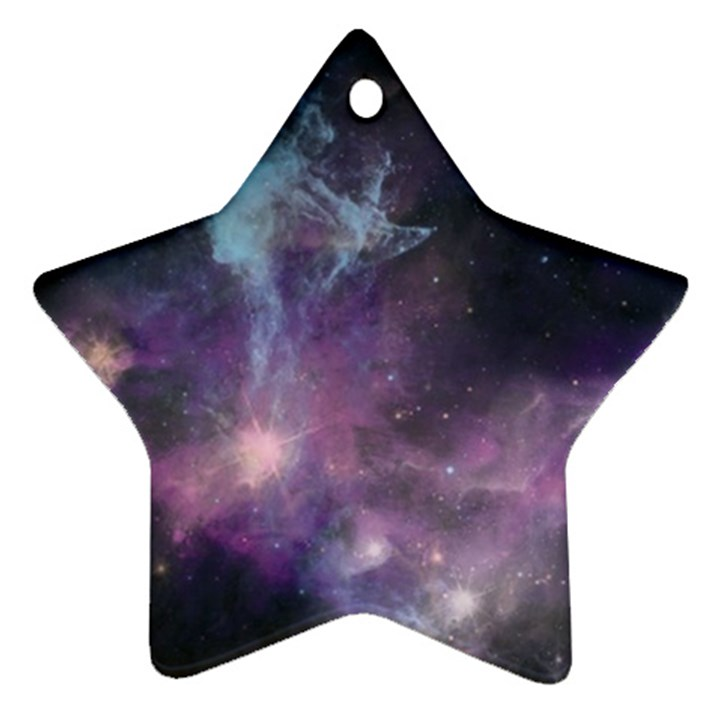Blue Galaxy  Ornament (Star)