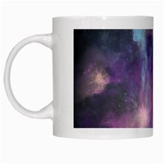 Blue Galaxy  White Mugs by DanaeStudio