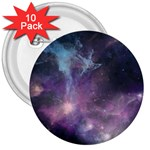 Blue Galaxy  3  Buttons (10 pack)