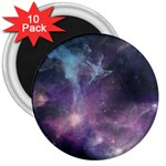 Blue Galaxy  3  Magnets (10 pack)