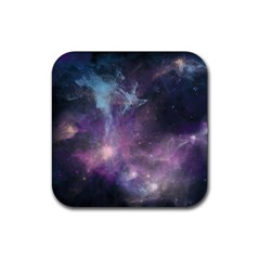 Blue Galaxy  Rubber Coaster (square)  by DanaeStudio