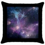 Blue Galaxy  Throw Pillow Case (Black) Front